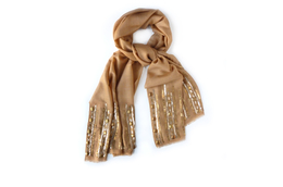 Zara Silk Wool Sequins Scarf