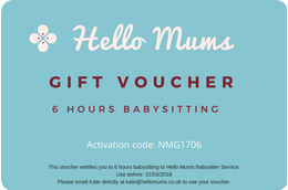 Babysitting Voucher 6 hours