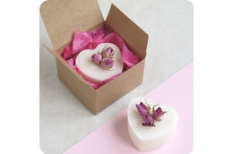 Rose Geranium Heart Soap